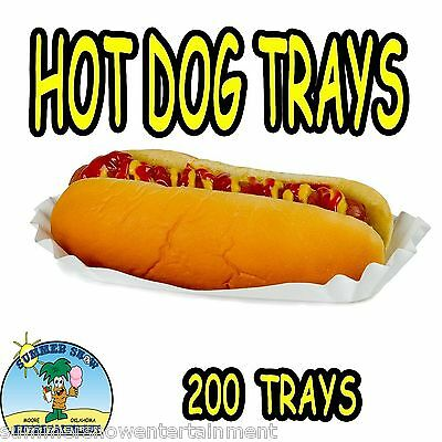 200 Hot Dog Tray Holders Paper Fluted Brand NEW CONCESSION SUPPLY #1