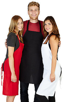 NEW SPUN POLY CRAFT / COMMERCIAL RESTAURANT KITCHEN BIB APRONS 12 Pack Bip Apron