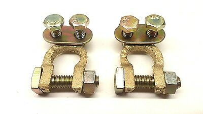 10x Solid Brass Top-Post Battery cable Terminal Wire Automotive clamp clip