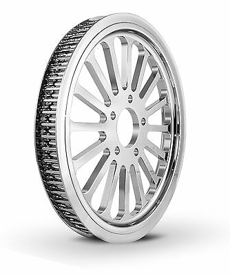 "DNA Super Spoke Chrome 66 Tooth X 1"" Rear Pulley Superspoke Custom Harley HD"
