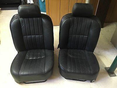 Jaguar XJ6 Series 3 Front and Rear Black Leather Seats. XJ