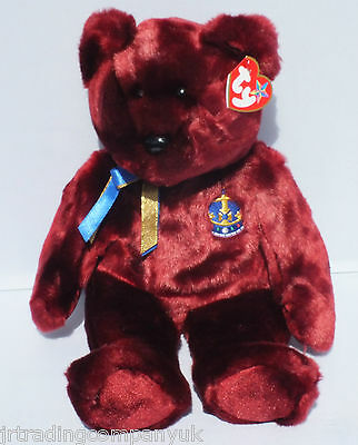 TY Beanie Buddy Buckingham The Bear NEW WITH TAG (UK Exclusive)