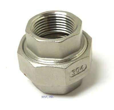 """Union 150# 304 Stainless Steel 1-1/4"""" Npt Fitting Brewing Pipe Fitting  752Wh"""