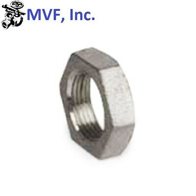 """1/4"""" NPT Lock Nut Cast 304 Stainless Steel With O-Ring Groove BREWING LN101"""