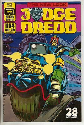 Quality Comics Judge Dredd Vol 2 #4 January 1987 VF+