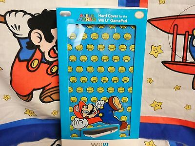 Official Nintendo Wii-U - GamePad Hard Cover - Blue Mario with Coins BRAND NEW