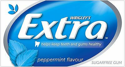 Wrigley's EXTRA PEPPERMINT FLAVOUR SUGARFREE CHEWING GUM BulkBox 24x14pcs Blue