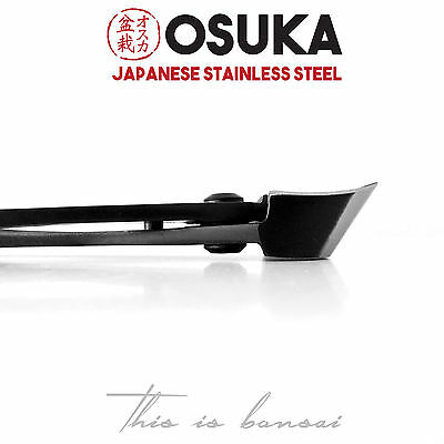 OSUKA Bonsai Concave Branch Cutters 210mm - Japanese Stainless Steel (Black)