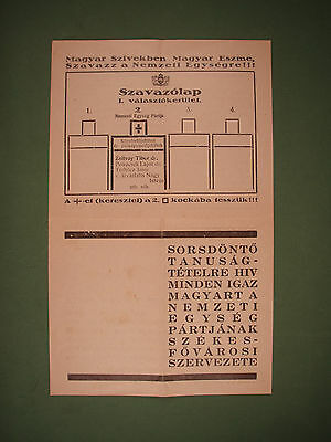WWII Hungarian National Unity Party Fascist Propaganda Booklet
