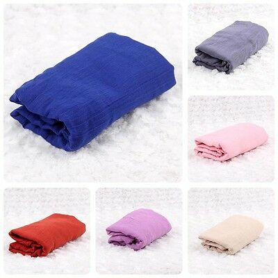 Hot Sale Newborn Gauze Cheesecloth Wraps Baby Photography Props Hammocks Shower