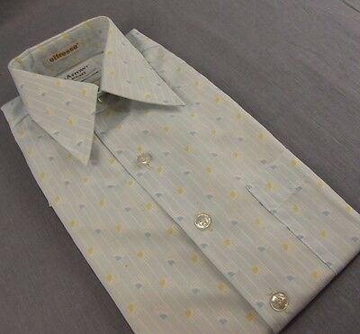 Vintage Arrow Kent Dress Shirt L Blue Size 15 NEW Old Stock NOS Short Sleeves