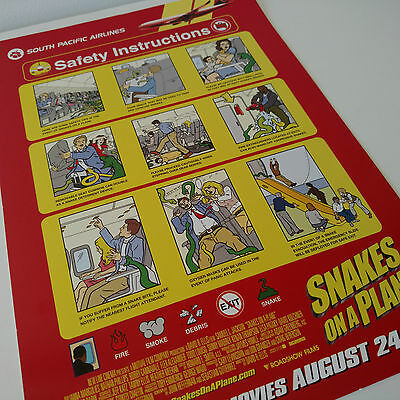 Snakes On A Plane Movie Memorabilia Ad Flyer Safety Card RARE Australian Advert