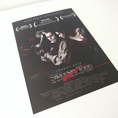 Sweeney Todd Australian Advert Flyer Movie Promotional Promo Print Poster A5