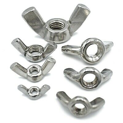 M3 M4 M5 M6 M8 M10 M12  Wing Nuts A4 Marine Grade Stainless Din 315 Butterfly