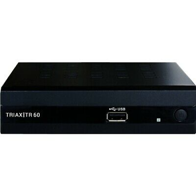 Triax Tr 60 Schwarz Dvb-T Receiver Hdtv Dvb-T2 Hd Set-Top-Box Media Player