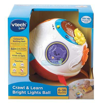Vtech Baby Crawl & Learn Bright Lights Ball 50+ Songs & Phrases Twist Slide Spin