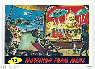 1994 Topps MARS ATTACKS Base Card # 13 Watching From Mars
