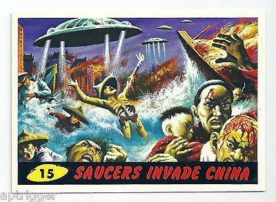 1994 Topps MARS ATTACKS Base Card # 15 Saucers Invade China
