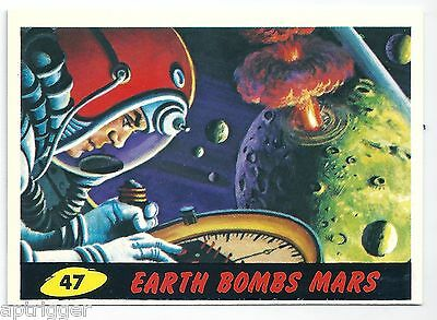 1994 Topps MARS ATTACKS Base Card # 47 Earth Bombs Mars