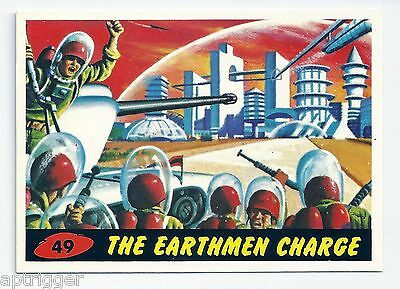 1994 Topps MARS ATTACKS Base Card # 49 The Earthmen Charge