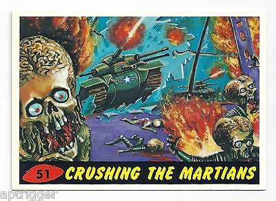 1994 Topps MARS ATTACKS Base Card # 51 Crushing The Martians