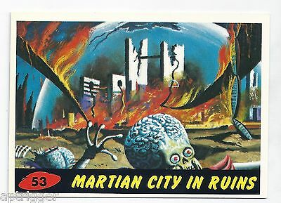 1994 Topps MARS ATTACKS Base Card # 53 Martian City In Ruins