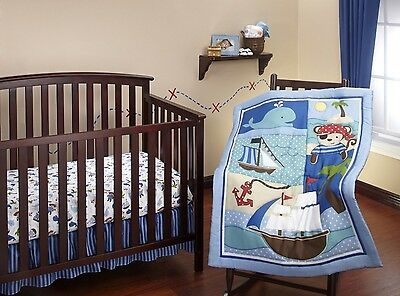 Little Bedding 3 Piece Comforter Set, Baby Buccaneer. Free Shipping
