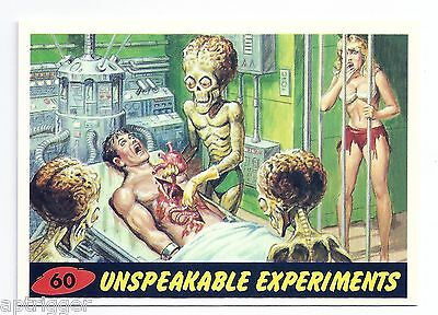 1994 Topps MARS ATTACKS Base Card # 60 Unspeakable Experiments