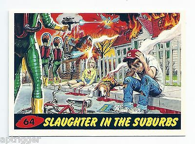 1994 Topps MARS ATTACKS Base Card # 64 Slaughter In The Suburbs