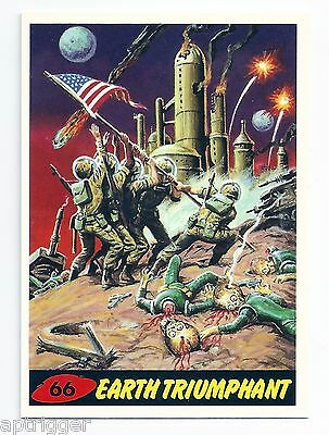 1994 Topps MARS ATTACKS Base Card # 66 Earth Triumphant