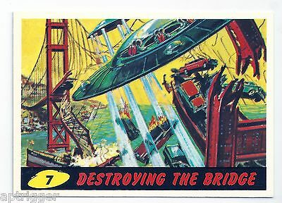1994 Topps MARS ATTACKS Base Card # 7 Destroying The Bridge