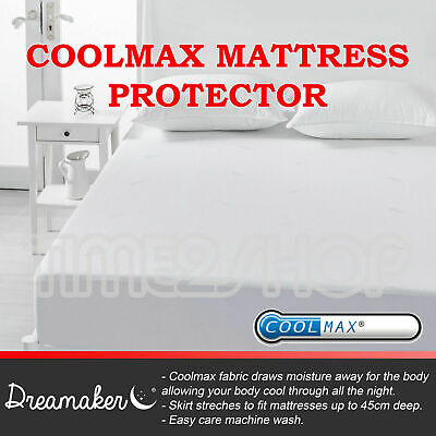 NEW Fully Fitted Coolmax Keep Dry Summer Mattress Protector/Underlay Sporting