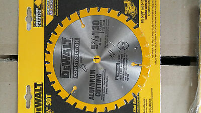 "DeWALT DW9052 30T 5 3/8""/ 136mm ALUMINIUM CUTTING CIRCULAR SAW BLADE 10mm bore"