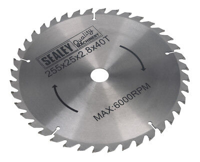 Sealey SMS10B40 compound mitre saw blade 254 x 2.8mm 25.4mm bore 40tpu