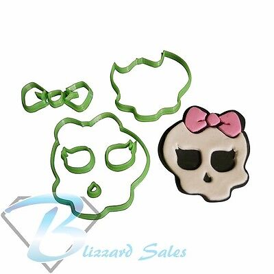 Monster High Cookie Fondant Cutter Cake Decorating 3 sizes or set of 3