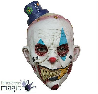Childs Latex Evil Circus Clown Mime Zack Scary Halloween Horror Fancy Dress Mask