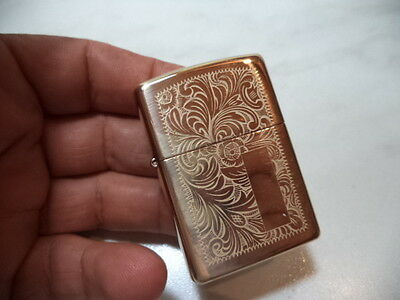 Zippo Accendino Lighter Modello Veneziano Inciso Brass Very Rare New