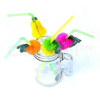 24 x FRUIT COCKTAIL DRINKING STRAWS Drinks Alcohol Party BBQ Pub Bar Restaurant