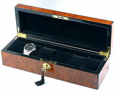 Premium Quality New High Glossy Piano Finished Wooden Watch Box Case 002A 1.8k