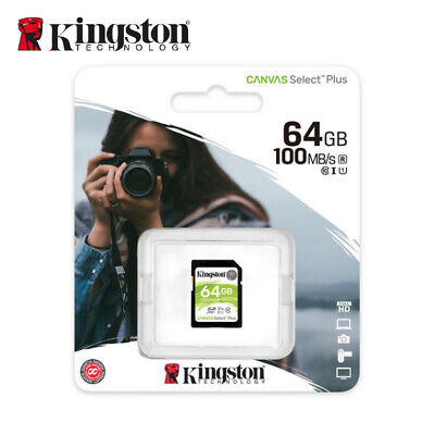 Kingston Canvas Select 64GB SDXC Class 10 SD Memory Card UHS-I U1