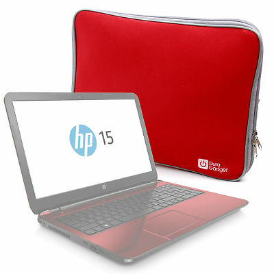 """Stylish Red Neoprene Protective Laptop Case / Sleeve for HP 15.6"""" Pentium"""