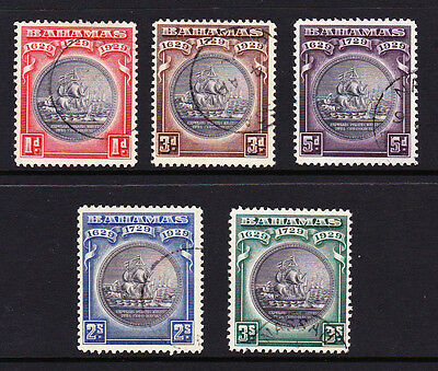 Bahamas 1930 Tercentenary Set Sg 126-130 Fine Used.