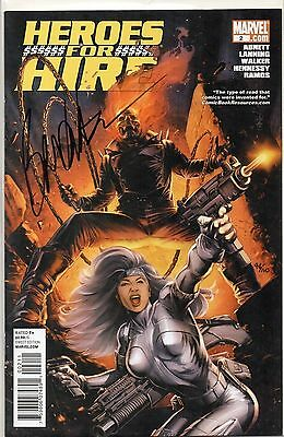 Marvel Comics Heroes For Hire #2 Dynamic Forces Walker Signed W/coa 44/100