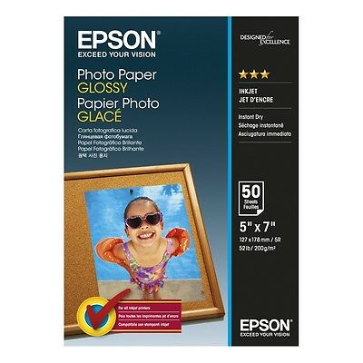 "Epson 13Cm X 18Cm (5"" X 7"") Glossy Photo Paper 200Gsm 50 Sheets - C13S042545"