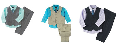 NEW Kenneth Cole Reaction Boys' 4-piece Tuxedo -  Vest Set - VARIETY