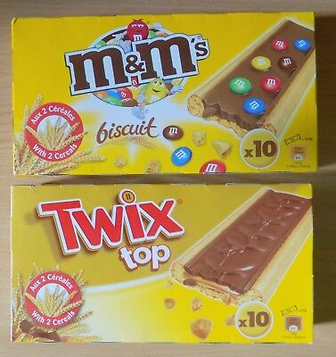 Twix Top / M&M Biscuit Cookies Covered Chocolate 1x 5x 10x Individual Pockets