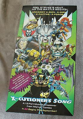 X-Cutioners X-Men X-Factor X-Force 1992 Apocalypse Cable Marvel PROMO Poster FVF