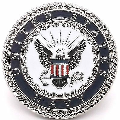 "Navy Emblem Concho Snap Set 1"" 1265-44 by Stecksstore"
