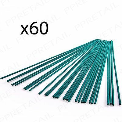 60 x STRONG Green Split Canes -SUPPORT STICKS- Gardening Plant Lily Bulb Growing