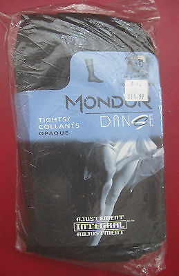Mondor 345 Black Adult Footed Tights Dance Theater Ballet  New Nylons size S
